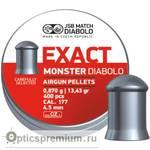 Пульки JSB Exact monster diablo кал. 4,5, 0,87 г.