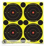 Мишень бумажная Birchwood Shoot NC® Bulls-eye Target 80мм