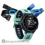 Спортивный GPS навигатор Garmin Forerunner 735XT темно-синие с голубым, HRM-Tri, HRM-Swim